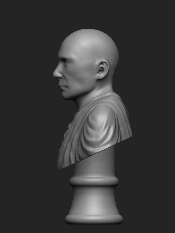 Left view, Zbrush preview