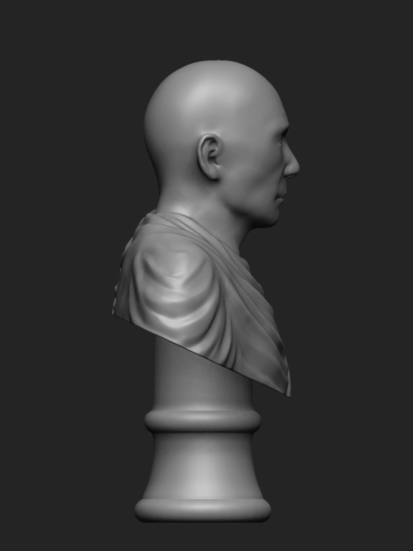 Right view, Zbrush preview